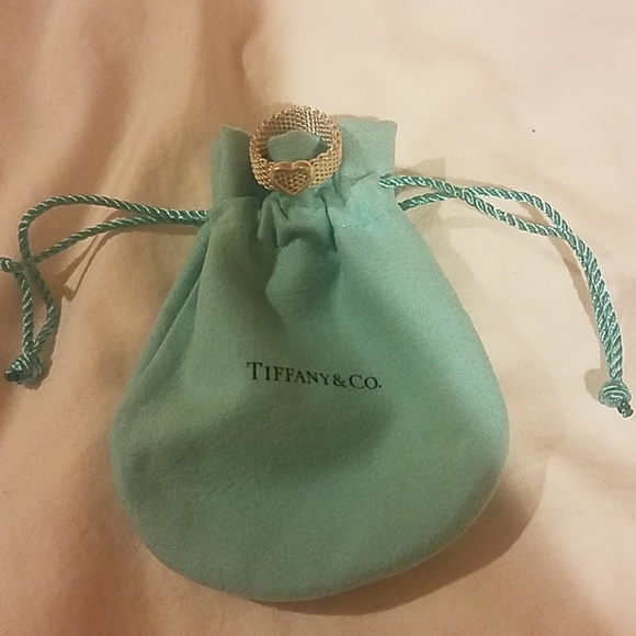 Tiffany & Co. Jewelry - Tiffany & Co. Sterling silver mesh heart ring
